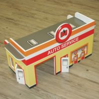 FunDeco Village Playsets, auto service
