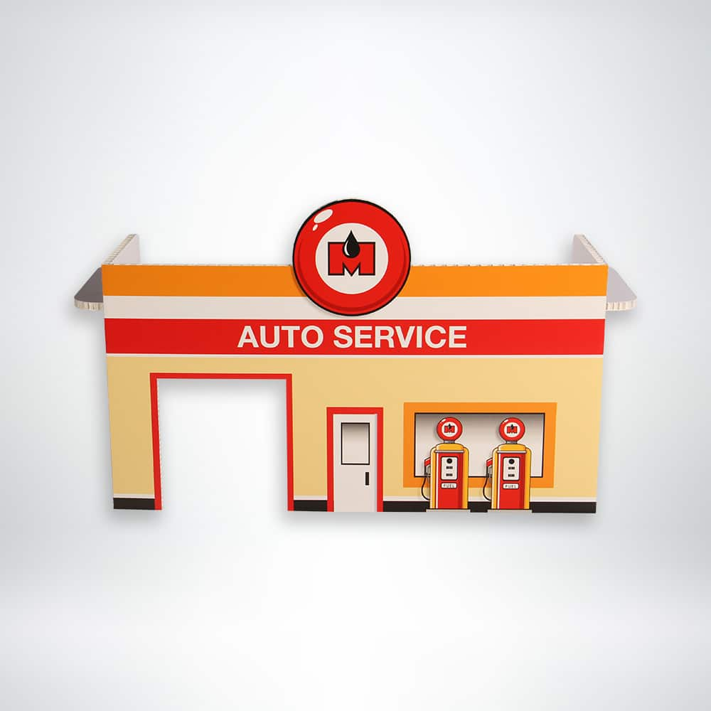FunDeco Village Playsets Auto Garage front