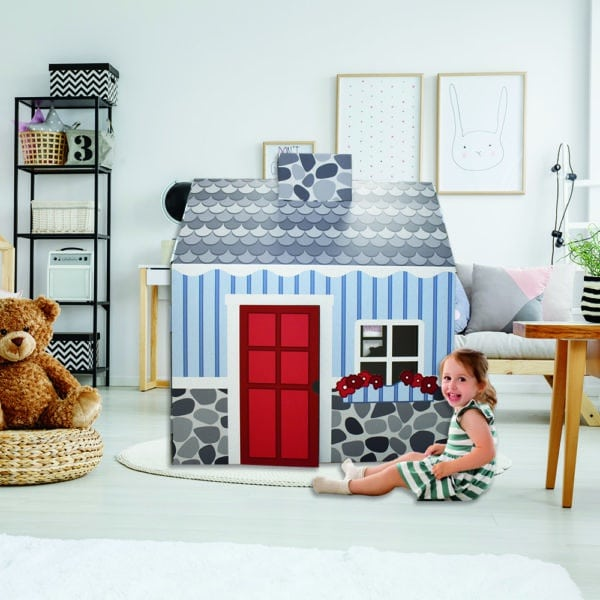 FunDeco Cottage Playhouse colored in mock room