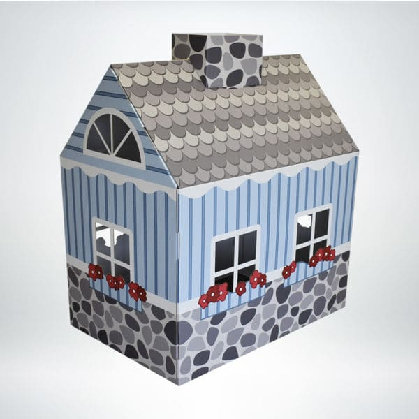 FunDeco Cottage Playhouse colored back