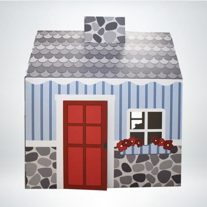 FunDeco Cottage Playhouse colored front view