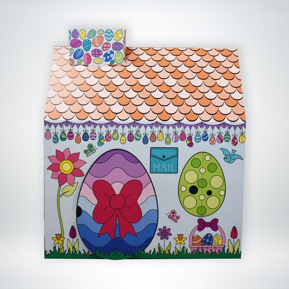 FunDeco Playhouse Easter Egg Cottage colored