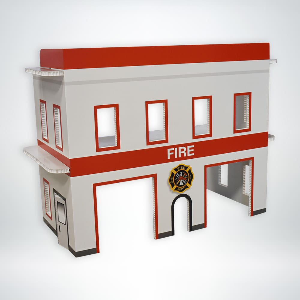 FunDeco Village Playset Fire Station