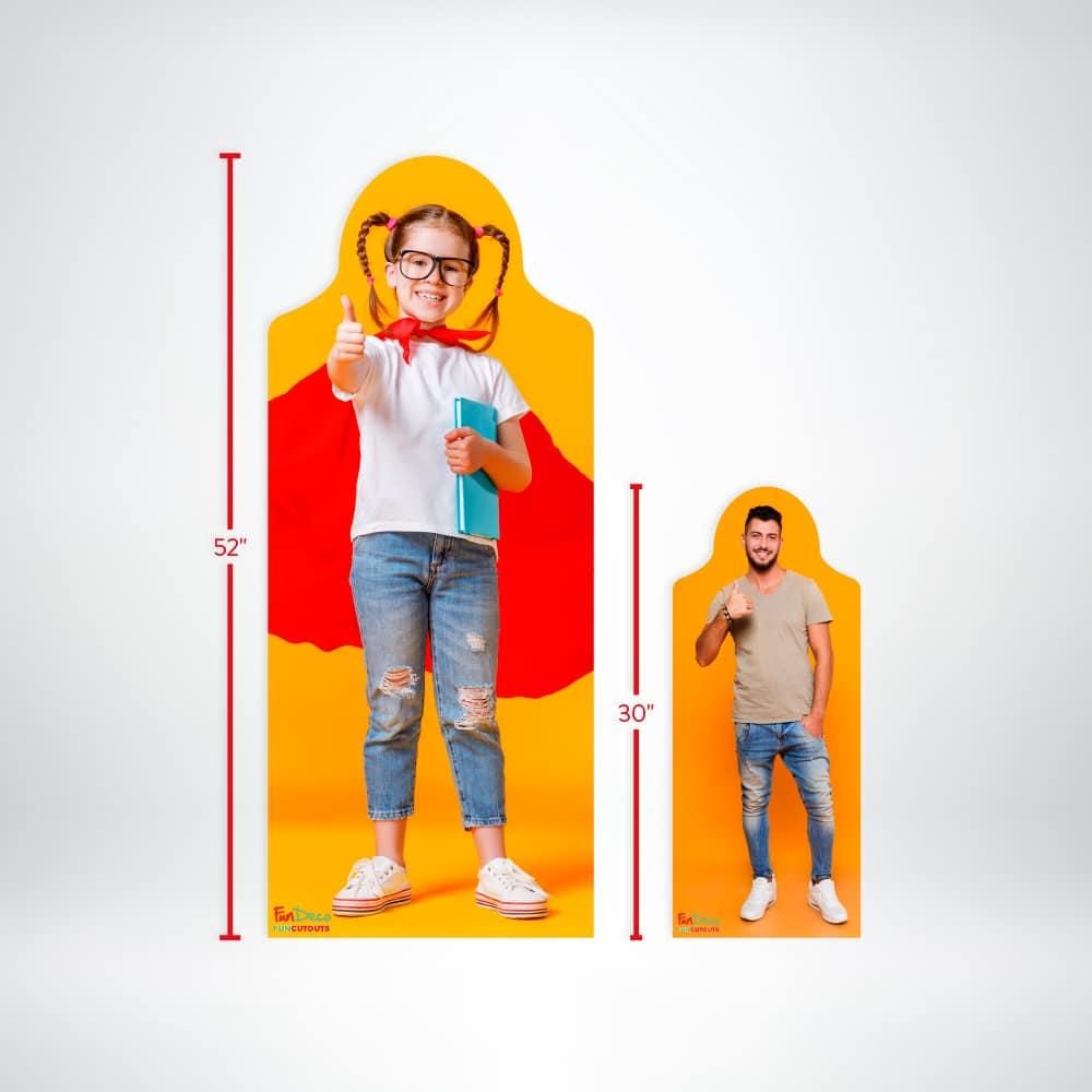 FunDeco fun cutout small sizes
