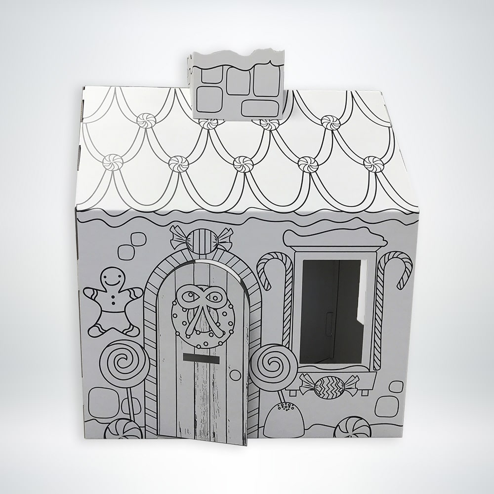 FunDeco Gingerbread Playhouse