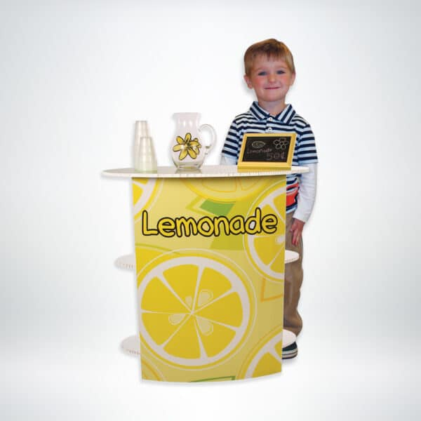 FunDeco Business Stand category, child in front of lemonade stand