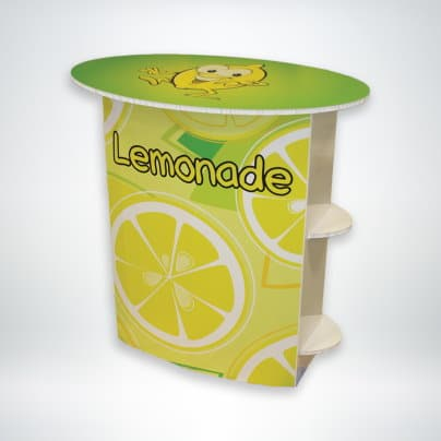 FunDeco Lemonade Stand front of stand