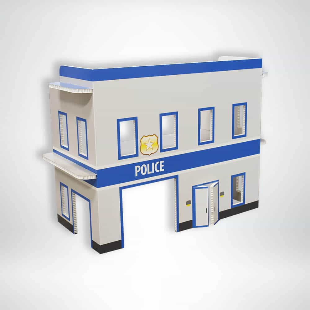 FunDeco Village Playsets Police Station front