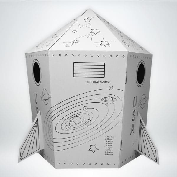 FunDeco Rocketship side view